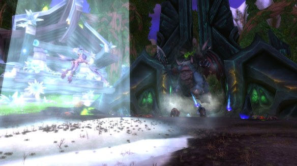 Purifying G'Hanir, the Mother Tree in World of Warcraft: Legion