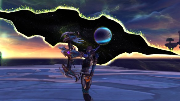 My Nightborne hunter in World of Warcraft: Legion