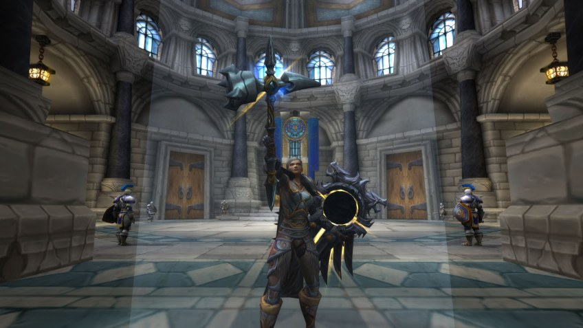 My human paladin in World of Warcraft: Legion