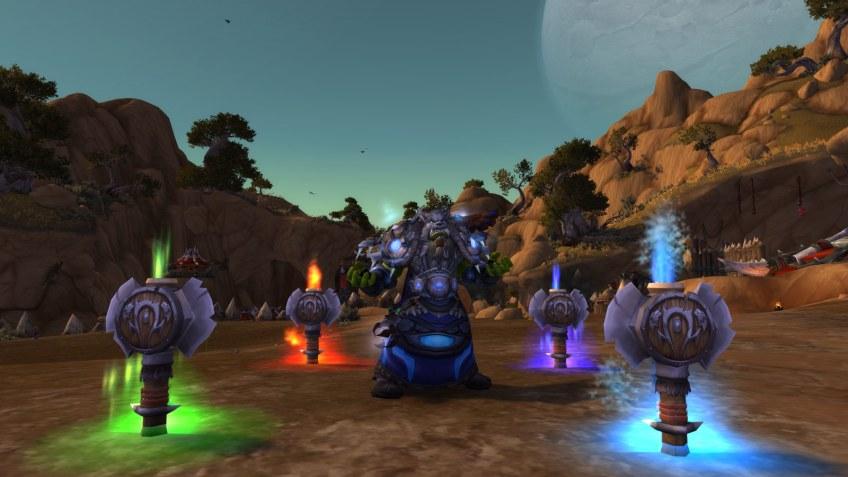 My Orcish shaman in World of Warcraft: Legion