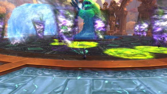 Fighting to claim Sheilun, Staff of the Mists in World of Warcraft: Legion