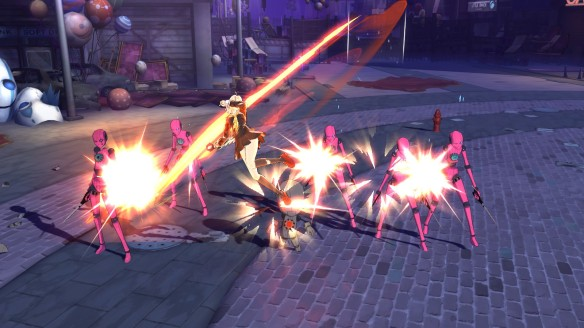 Combat in the anime MMORPG Soulworker