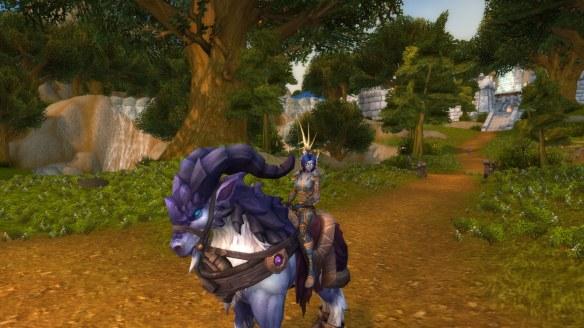 My Void Elf hunter in World of Warcraft