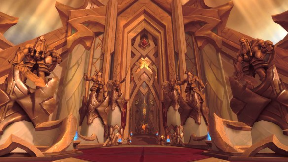 The warrior class hall in World of Warcraft: Legion
