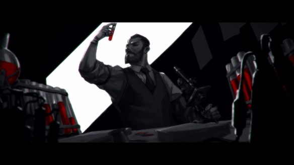 A cutscene in Vampyr