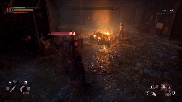 Combat in Vampyr