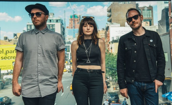Chvrches (Lauren Mayberry, Iain Cook, and Martin Doherty), a band whose music is sorrowful and lovely in equal measure