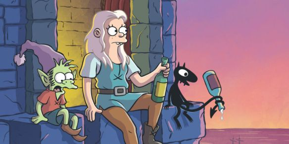 A promotional image for Netflix's Disenchantment