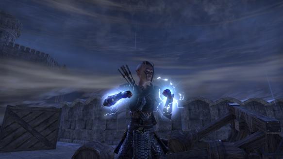 My sorcerer using her ultimate ability in Elder Scrolls Online