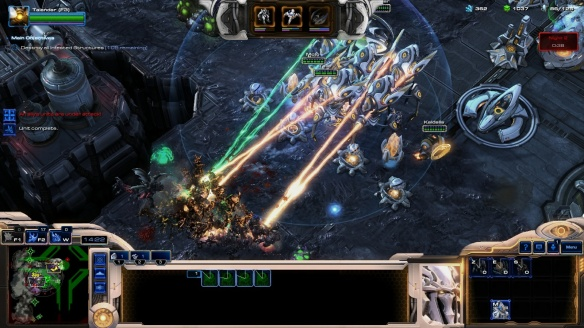 Defending on the Dead of Night map in StarCraft II co-op missions.