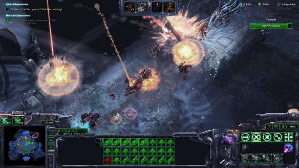 The Dominion Fleet calldown ability in StarCraft II co-op missions.