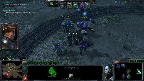 Tychus Findlay and his outlaws in StarCraft II co-op missions.