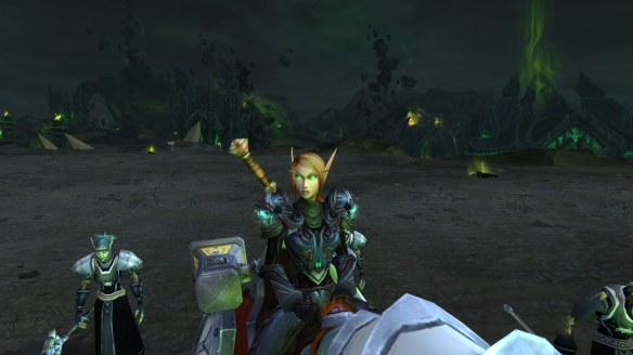 A Blood Elf paladin character in World of Warcraft