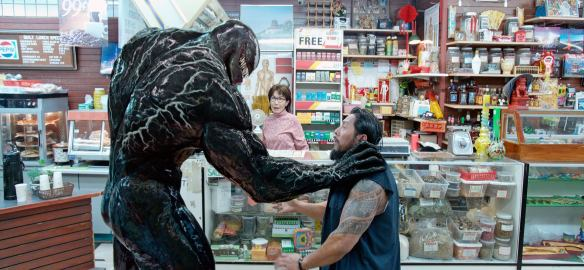 A shot from the movie Venom, starring Tom Hardy