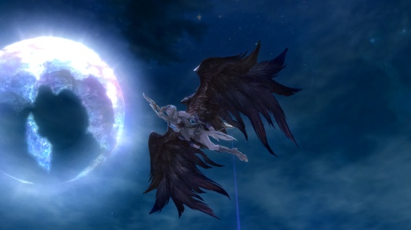 My Asmodian ranger takes flight in Aion