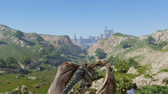 A flightpath in Bless Online