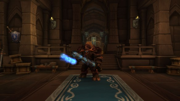 My Tauren death knight in World of Warcraft