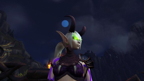 My Blood Elf demon hunter in World of Warcraft