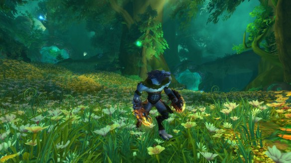 My Worgen druid in World of Warcraft