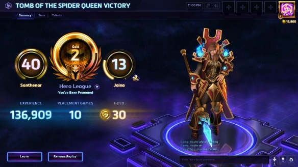 My rather pitiful rank in Heroes of the Storm
