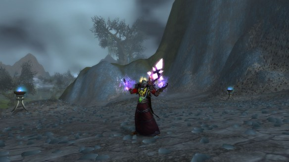 My Blood Elf mage in World of Warcraft