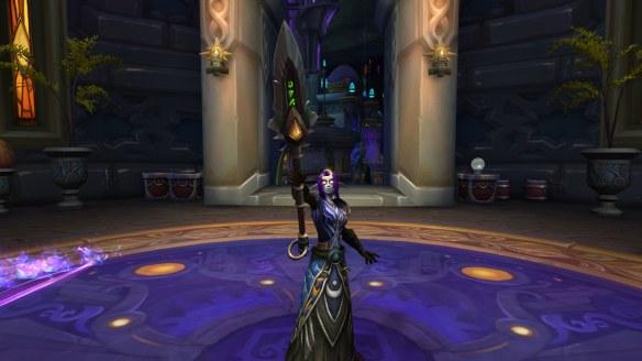 My Night Elf monk in World of Warcraft