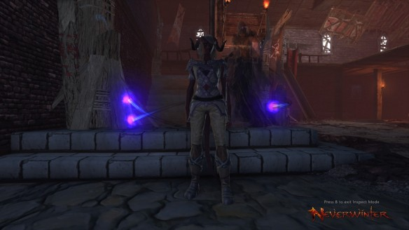 My Tiefling scourge warlock in Neverwinter