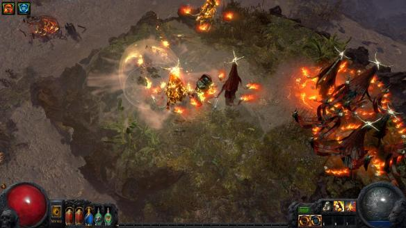 A promotional screenshot from the action RPG Path of Exile