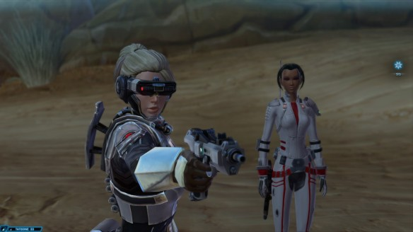 My Cyborg bounty hunter in Star Wars: The Old Republic