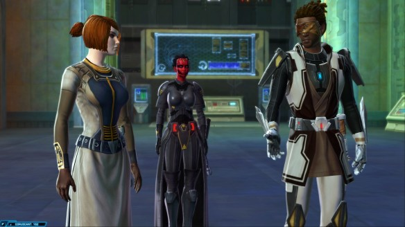 My Miraluka Jedi knight in Star Wars: The Old Republic