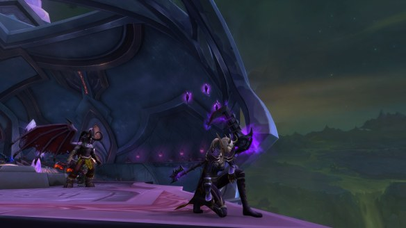 My Blood Elf warlock in World of Warcraft