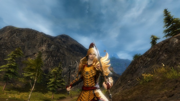 My human warrior in Guild Wars 2