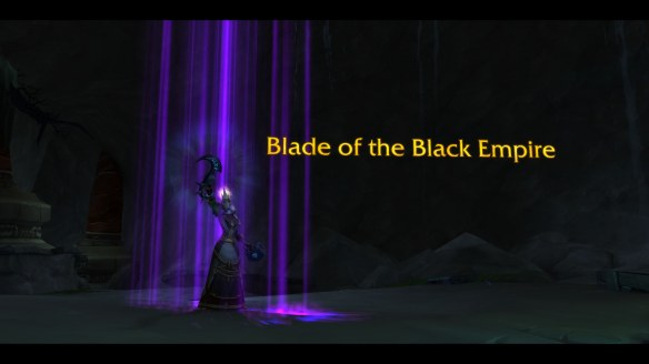 My priest claims Xal'atath, Blade of the Black Empire in World of Warcraft