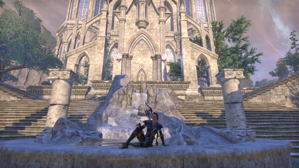 My sorcerer in her Grand Psijic Villa home in Elder Scrolls Online