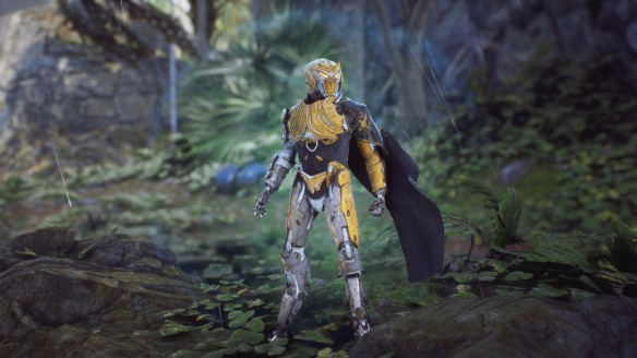 My Storm Javelin cuts a pose in Anthem