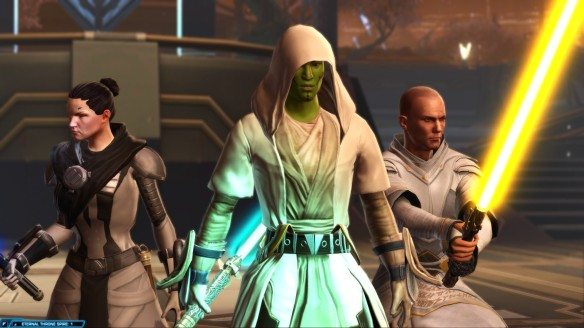 My consular, Senya Tirall, and Arcann in Star Wars: The Old Republic