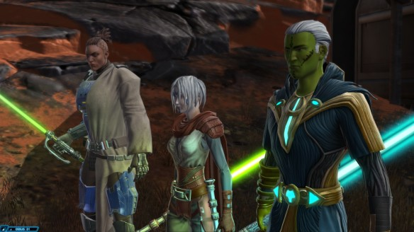 My consular alongside fellow Jedi on Ossus in Star Wars: The Old Republic