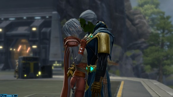 My consular reunited with his wife, Nadia Grell, in Star Wars: The Old Republic