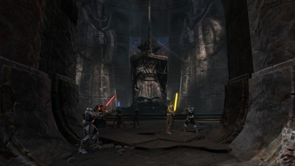 The Jedi and Sith do battle on Ossus in Star Wars: The Old Republic