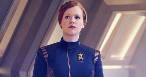 Mary Wiseman as Sylvia Tilly on Star Trek: Discovery