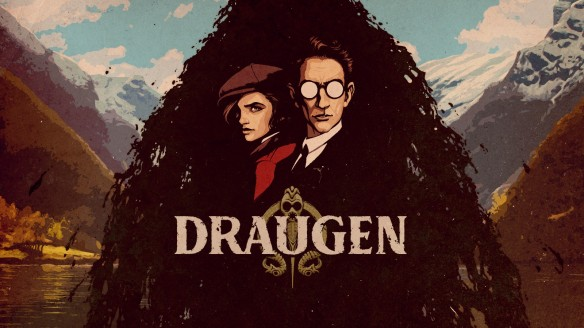 The logo and title screen for Draugen