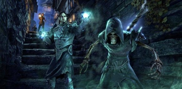 A promotional for the necromancer class in Elder Scrolls Online