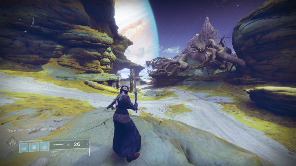 Jupiter's moon of Io in Destiny 2