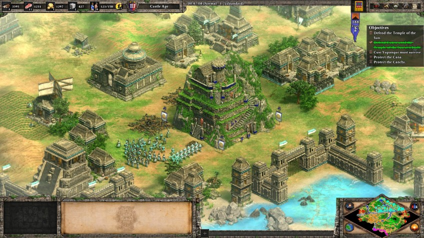An Inca city in the Age of Empires II Definitive Edition.