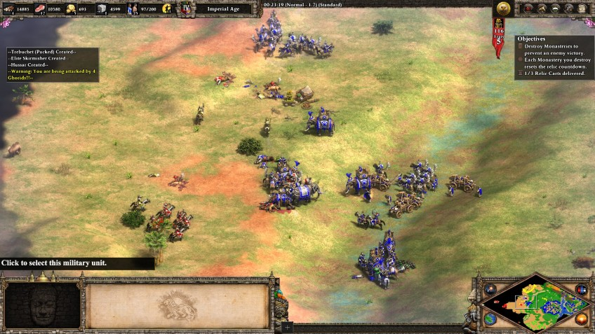 The Indian campaign in the Age of Empires II Definitive Edition.