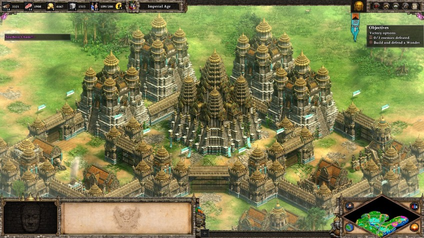 The Khmer wonder in the Age of Empires II Definitive Edition.