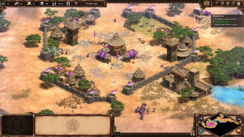 A Malian village in the Age of Empires II Definitive Edition.