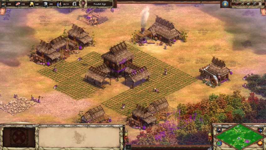 A Mongol town in the Age of Empires II Definitive Edition.