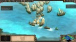 A naval battle in the Age of Empires II Definitive Edition.