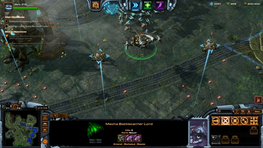 Playing as Egon Stetmann in StarCraft II co-op.